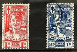 "1931 Health ""Smiling Boy"" Set, SG 546/547, Fine Used. (2) For More Images, Please Visit Http://www.sandafayre.com/itemde - New Zealand"