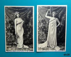 2 CPA - LES LUMIERES - Photographe H. MANUEL 1902 - Fotografía