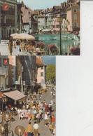 74 ANNECY  -  Les Quais De La Vieille Ville Et Rue Piétonne  -  2 CARTES  - - Annecy