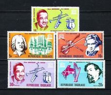Togo Nº 531/5 Nuevo - Togo (1960-...)
