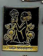 @@ Pin-ups Fleurs Jolie Madame (2.3x3) @@pi60 - Pin-ups