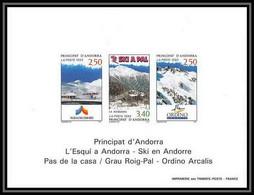 1325/  Bloc Feuillet BF (deluxe Proof) Andorre (Andorra) N°429A Station De Ski Andorrane - Blocchi & Foglietti