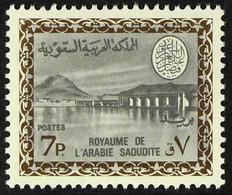 1968-76 Wadi Hanifa Dam (King Faisal Cartouche, With Watermark) 7p Sepia And Grey (Scott 467, SG 784) Never Hinged Mint. - Saudi Arabia