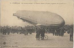 DIRIGEABLE.LUNEVILLE Un Zeppelin Au Champ De Mars.Il Pique Du Nez - Luneville