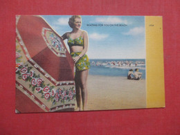 Waiting For You On The Beach  Ref  4391 - Pin-Ups