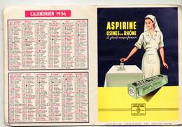 Paris 11e : Carte Des Pharmacies De Garde / Calendrier1956 / Publicités ASPIRINE / SPECIA  (PPP23912) - Kalender