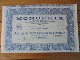 FRANCE - PARIS 1935 - MONOPRIX - ACTION DE 500 FRS - Unclassified