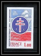 France N°1885 Français Libres DE GAULLE Guerre 1939/45 Non Dentelé ** MNH (Imperforate) - Non Dentellati