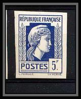 France N°645 Marianne Série D'Alger Non Dentelé * MH (Imperforate) - Non Dentellati