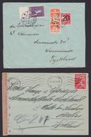 2 X ZENSUR : Oberkommando Der Wehrmacht Briefhüllen Aus Norwegen 25.9.1942 Und Dänemark 6.3.1940 - 1939-45