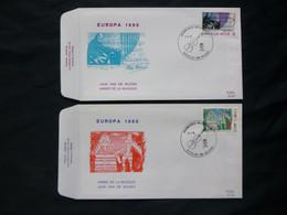 "BELG.1985  2175 & 2176 FDC ( Brux-Brus )  :  "" EUROPA 1985 "" - FDC"