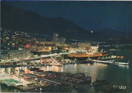 Monaco : La Nuit (CP Voyagé 1982 - TP Français) - Hafen