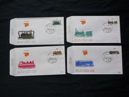 "BELG.1985  2170 2171 2172 & 2173 FDC ( Antwerpen)  :  "" Transport : Centenaitre Des Chemins De Fer / 100 Jaar NMBS "" - FDC"