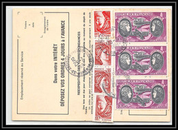 54611 Artigues-près-Bordeaux Gironde Poste Aérienne PA N°47 Boucher Hilsz X 3 Airmail Ordre De Reexpedition Temporaire - Posta Aerea
