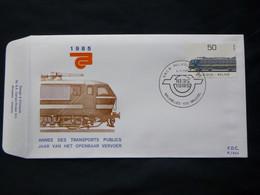 "BELG.1985  2174 FDC ( Brux-Brus )  :  "" Transport : Centenaitre Des Chemins De Fer / 100 Jaar NMBS "" - FDC"