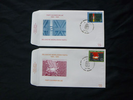 "BELG.1985 2167 & 2168 FDC  ( Deurne ) : "" Werkliedenpartij  / Parti Ouvrier Belge "" - FDC"