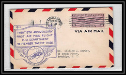 0345 Lettre USA Aviation Premier Vol (Airmail Cover First Flight Luftpost) 1931 Los Angeles - Air Mail