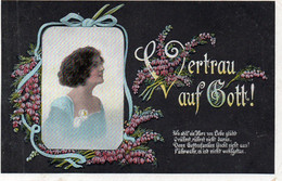 DC3909 - Vetrau Auf Gott, Junge Dame 1916 - Moda