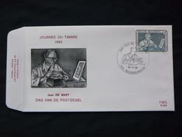"BELG.1985 2169 FDC ( Maasmechelen)  : "" Journée Du Timbre , Jean De Bast Graveur , Dag Van De Postzegel "" - FDC"