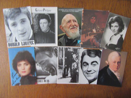Lot De 10 Cartes De Personnages Célèbres   Gina Lolobrigida, Donald Lautrec, Gérard Philippe Ect... - 5 - 99 Postales