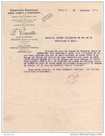 71 DIGOIN FACTURE COURRIER Banque COMPTOIR DIGOINAIS F. COUETTE 1926  -- J11 - Banca & Assicurazione