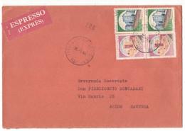 IZ962  Storia Postale 1988 - Espresso X Ravenna Coppia Castelli £.300 E £.400 - 1981-90: Marcophilia