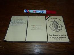 Carte état De Services De Guerre Du Combattant 1940-1945 Soldat De Floreffe Résistant Armé Prisonnier Des Allemands Etc - 1939-45