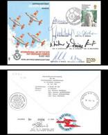 1163 Lettre Airmail Cover Grande Bretagne Great Britain Silver Birds 1976 Signé (signed) Pilots - Flugzeuge