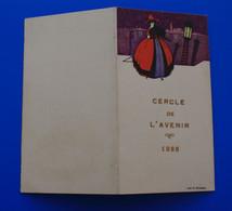Mars 1925-☛ ARLES-SUR-RHÔNE FAIRE PART INVITATION AU BAL-CONCERT-SALON DU CERCLE DE L'AVENIR☛CARTE-DE MEMBRE-GILLES JEAN - Mededelingen