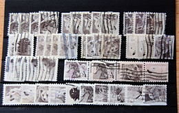 USA US - Small Batch Of 47 Stamps Used 1981 Wildlife Booklet Issue (one Serie With 10 Differents Stamps Issue) - Sammlungen