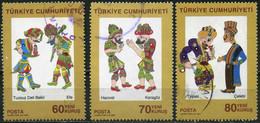 Turkey 2007 - Mi. 3612-14 O, Cultural Assets - Galanty Show - 1921-... Republic