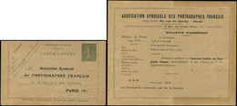 Let Collection Spécialisée 15c. Semeuse Lignée - CL N°B1b, Repiquage Association Syndicale Des PHOTOGRAPHES FRANCAIS, Im - 1903-60 Semeuse Lignée