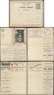 Let Collection Spécialisée 15c. Semeuse Lignée - Env. Lettre Annonces N°B22 POUPONNIERE DE VARREDES, Petite Déchirure, M - 1903-60 Semeuse Lignée