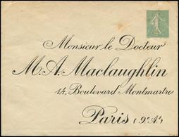 Let Collection Spécialisée 15c. Semeuse Lignée - Env. TSC N°B24d, A. Maclaughlin, Qqs Rousseurs, Sinon RR Et TB - 1903-60 Semeuse Lignée