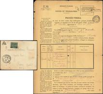 Let Collection Spécialisée 15c. Semeuse Lignée - N°130 Obl. Et épinglé S. CP, Càd CHARTRES 1/12/19 Et Cachet T + Procès- - 1903-60 Semeuse Lignée