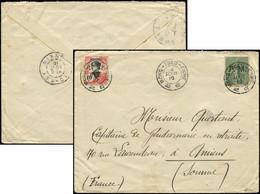 Let Collection Spécialisée 15c. Semeuse Lignée - FM 3 MIXTE Avec Mongtseu N°38 Obl. Càd MONG-TSEU-CHINE 4/8/10 S. Env.,  - 1903-60 Semeuse Lignée