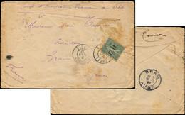 Let Collection Spécialisée 15c. Semeuse Lignée - FM 3 Obl. Càd LA CANEE 3/8/07 S. Env., Arr. BRAM Le 8/8, TB - 1903-60 Semeuse Lignée