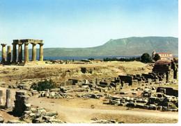 Grece Kórinthos Corinthe Temple D Appollon Ruine Colonnes Montagne Batiment Edifice Histoire Patrimoine - Grecia
