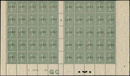 ** Collection Spécialisée 15c. Semeuse Lignée - ALGERIE 10 : 15c. Vert-gris, PANNEAU De 50 Mill.9, Bas De Feuille Manche - 1903-60 Semeuse Lignée