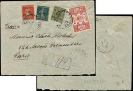 Let Collection Spécialisée 15c. Semeuse Lignée - CILICIE 79, 82, 83 Et 84 Obl. ADANA 7/4/20 S. Env. Rec., Cachet De Cens - 1903-60 Semeuse Lignée