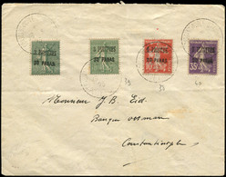 Let Collection Spécialisée 15c. Semeuse Lignée - LEVANT 38, 39 (2) Et 40 Obl. Càd CONSTANTINOPLE-STAMBUL 26/3/23 S. Env. - 1903-60 Semeuse Lignée