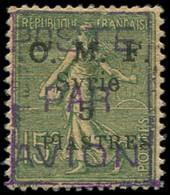 * Collection Spécialisée 15c. Semeuse Lignée - SYRIE PA 2 : 5pi. Sur 15c. Vert-olive, 1er Tirage, TB. Br - 1903-60 Semeuse Lignée