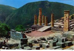 Grece Delphoí Delphes Temps D Apollon Ruine Colonnes Batiment Edifice Histoire Patrimoine - Grecia