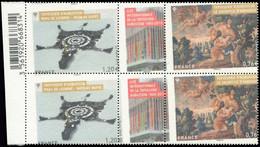 ** VARIETES - 4999/5000 Aubusson, Triptyque, PAIRE Bdf, Piquage OBLIQUE, TB - Variedades Y Curiosidades