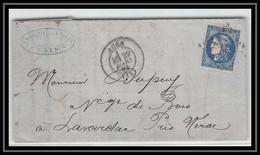 1522 Lot-et-Garonne Bordeaux N° 46 B GC 12 Agen Pour Lavardac 29/3/1871 LAC Lettre Cover France - 1849-1876: Klassik