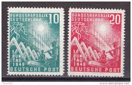 Men_ Bund 1949 - Mi.Nr. 111 - 112  - Postfrisch MNH - BRD