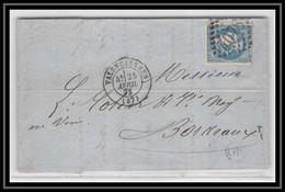1659 Nord Bordeaux N°46b Gc 4078 Valenciennes Pour Bordeaux 25/4/1871 LAC Lettre Cover France - 1849-1876: Klassik