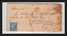 1628 Nord Bordeaux N°46b Gc 1090 Comines Pour Bordeaux 30/4/1871 LAC Lettre Cover France - 1849-1876: Klassik