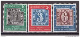 Men_ Bund 1949 - Mi.Nr. 113 - 115  - Postfrisch MNH - BRD