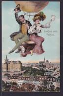 Ansichtskarte Teplitz Schönau Teplice Sudetenland Böhmen Tschechien Scherzkarte  - Sudeten
